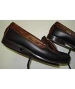 Men's Neil M Classic Black/Tan Leather Tassel Loafer Sz. 8.5D MINTY! - $59.39