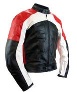 QASTAN Men's New Superb Black Motorbike CE Protectors Leather Jacket QMMJ29 - $159.20+