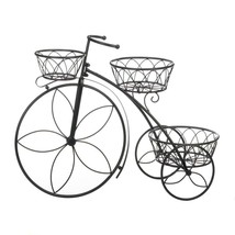 TRICYCLE PLANT STAND 3 Basket Flower Shape Spokes Deck Patio - $43.95