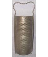 Antique Primitive Gilmore Round Cylinder Tin Kitchen Utensil Bowl  Grater  - $12.95