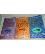 Nora Roberts Key Trilogy 3 Books Key Of Light Knowledge And Valor Paperback - $14.99