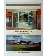 Rice University - Houston, Texas 40 Strike Matchbook Cover Rice Memorial Center - $2.00
