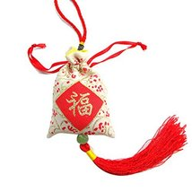 PANDA SUPERSTORE Chinese Fook Car Decoration Lucky Ornament Satin Sachet