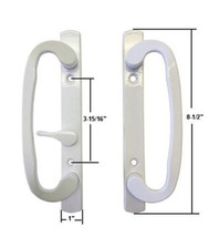 Sash Controls Mortise Style Patio Handle, B-Position, Non-Keyed, White - $44.50