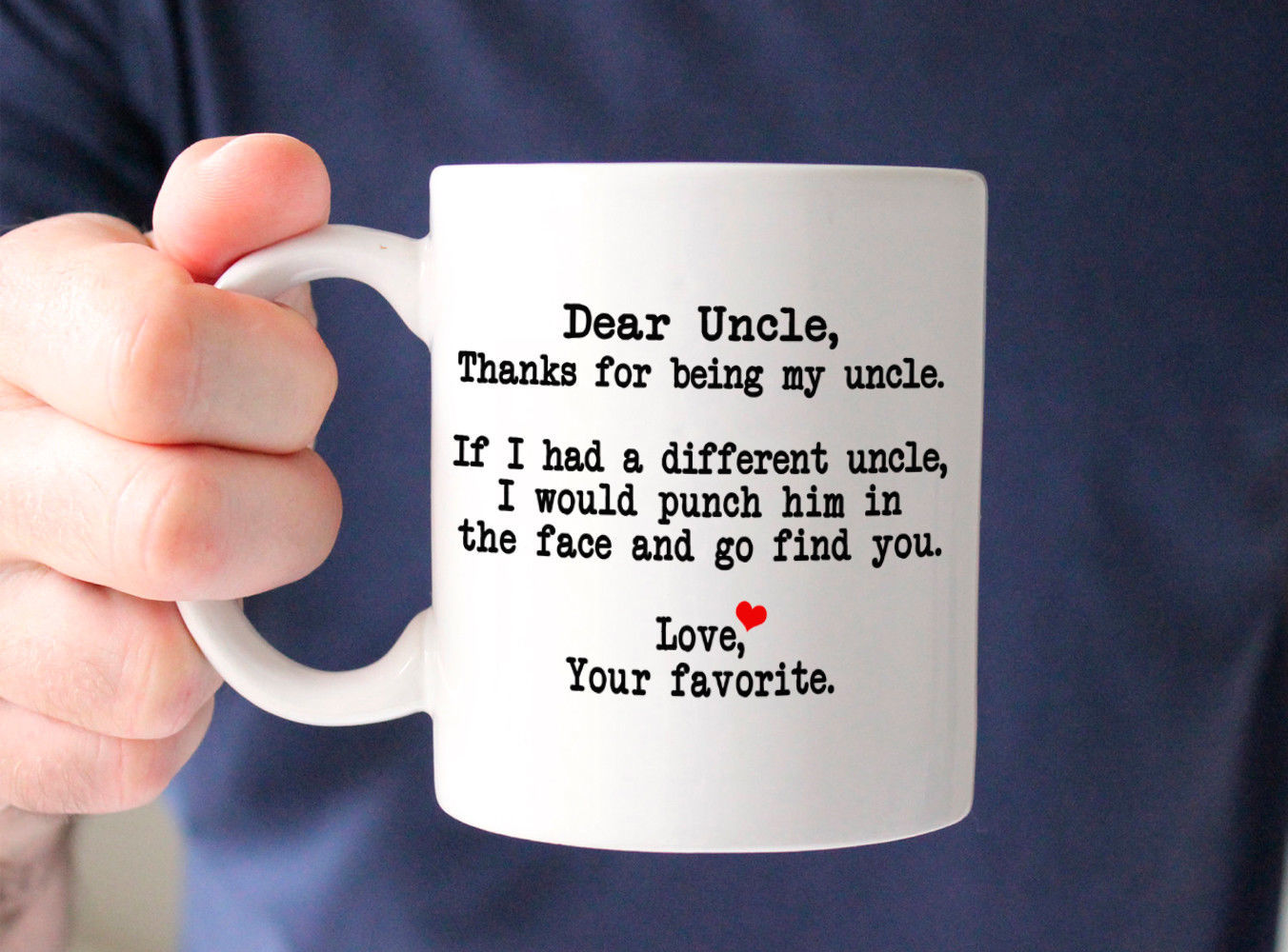 Dear Uncle Thanks for being my Sister-Best Funny Gift for Uncle Coffee Mug