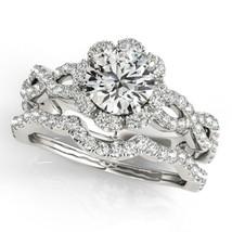 14k White Gold Finish 925 Sterling Silver Womens Wedding Bridal Diamond Ring Set - $94.99