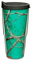 Tervis 24oz Tumbler REALTREE Camouflage Insulated Wall Aqua w Brown Trav... - $26.72