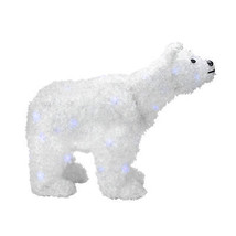 "Alger Alger 24"" Battery Operated LED Lighted Tinsel Polar Bear Christmas... - $63.10"