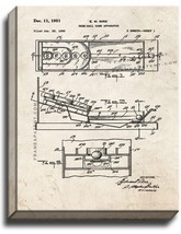 Skee-ball Game Apparatus Patent Print Old Look on Canvas - $69.95+