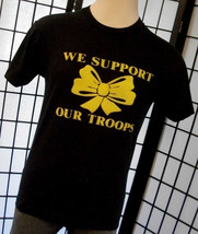Screen Stars Support Our Troops Cheers thin retro 50/50 tee shirt large ... - $19.95