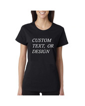 Custom Text Womans T Shirt Gildan Ultra 100% Cotton Mom Gift - $15.98