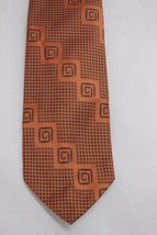 "Sears Vintage Necktie Polyester Bronze Graphic 59"" X 4-1/4"" - $9.99"
