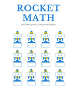 Printable Math Worksheets Home Schooling Multiplication Rocket Math - $0.95