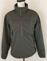 Eddie Bauer Size Small Olive Green Fleece Lined Windbreaker Jacket Nylon... - $28.49
