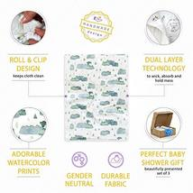 Burp Cloths by Elka&Finch. Soft Absorbent Baby Cloths That Have You Covered. wit image 4