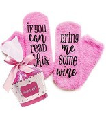 "Xpeciall Gift Wine Socks""If You Can Read This Bring Me Some Wine"" Funny ... - ₹794.86 INR"