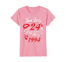 Funny Shirts - Vintage May 1994 24th Birthday Gift 24 yrs This Lady Awesome Wowe image 2