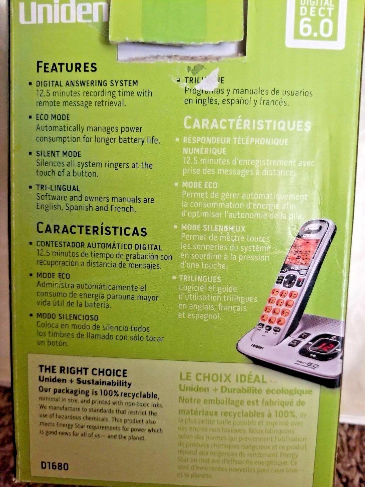Uniden D1680 1.9 GHz Single Line Cordless Phone image 7