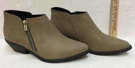 Boots Soda Taupe Womens Size 10 Shoes Western Point Pull On Zip Up Wedge Heel - $24.74