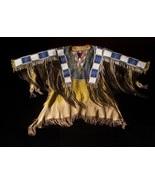 Native American Buckskin Tan Blue Buffalo Leather Beaded Powwow War Shir... - $359.10