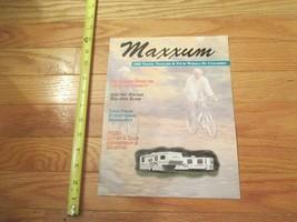 Coachman Maxxum Travel Trailers 5th Wheels 1995 RV Vintage Dealer sales ... - $14.99