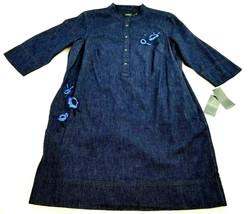 Nuovo Ralph Lauren Donna Jeans Vestito Camicia 202678295002 Blu 18w Msrp - $52.58