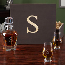 Personalized Whiskey Decanter and Glencairn Scotch Glasses - $129.95