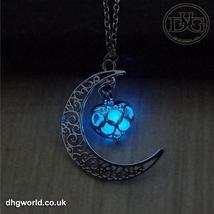 YAKAMOZ Enchanting Moon & Heart Theme Ladies Necklace - Glow in the Dark image 6