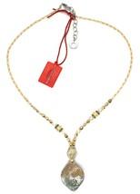 Necklace Antica Murrina Venezia, 45 cm, CO863A10, Pendant White Glitter Stripe image 2