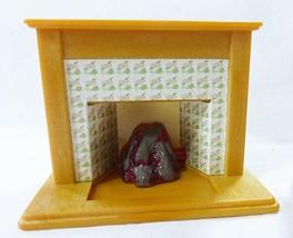Vintage Epoch Casa Delle Bambole Mobili Miniature Soggiorno Camino Armadietto image 2