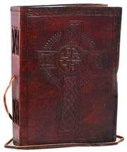 Celtic Cross leather blank book w/ cord - $24.00
