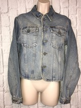 Women's Vintage Calvin Klein Jeans Light Blue Denim Jacket Size Medium Gift - $18.70