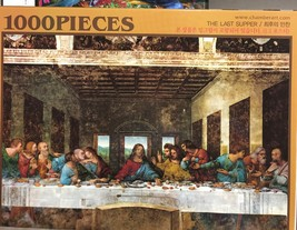 Chamber Art Jigsaw Puzzle The Last Supper 1000 Pieces 28.9 x 20 in. with Poster image 1