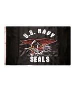 3x5 Embroidered Black Navy Seals 600D Nylon Flag 3'x5' Banner Heavy DUTY - £36.50 GBP