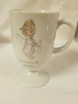 Enesco Precious Moments Footed Coffee Cup Mug  The Voice Of Spring - $14.99