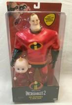 Jakks Disney Pixar Incredibles 2 Mr . Incredible & JACK-JACK Poseable Doll - $11.88
