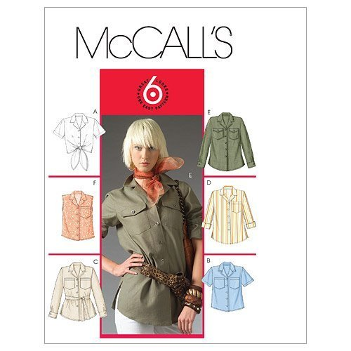 McCall's Patterns M5052 Misses'/Miss Petite Shirt In 2 Lengths and Tie Belt, Siz