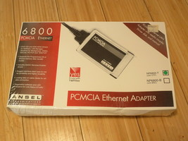 Vintage New Old Stock Ansel 6800 PCMCIA Ethernet Adapter NP6800-T - $23.23