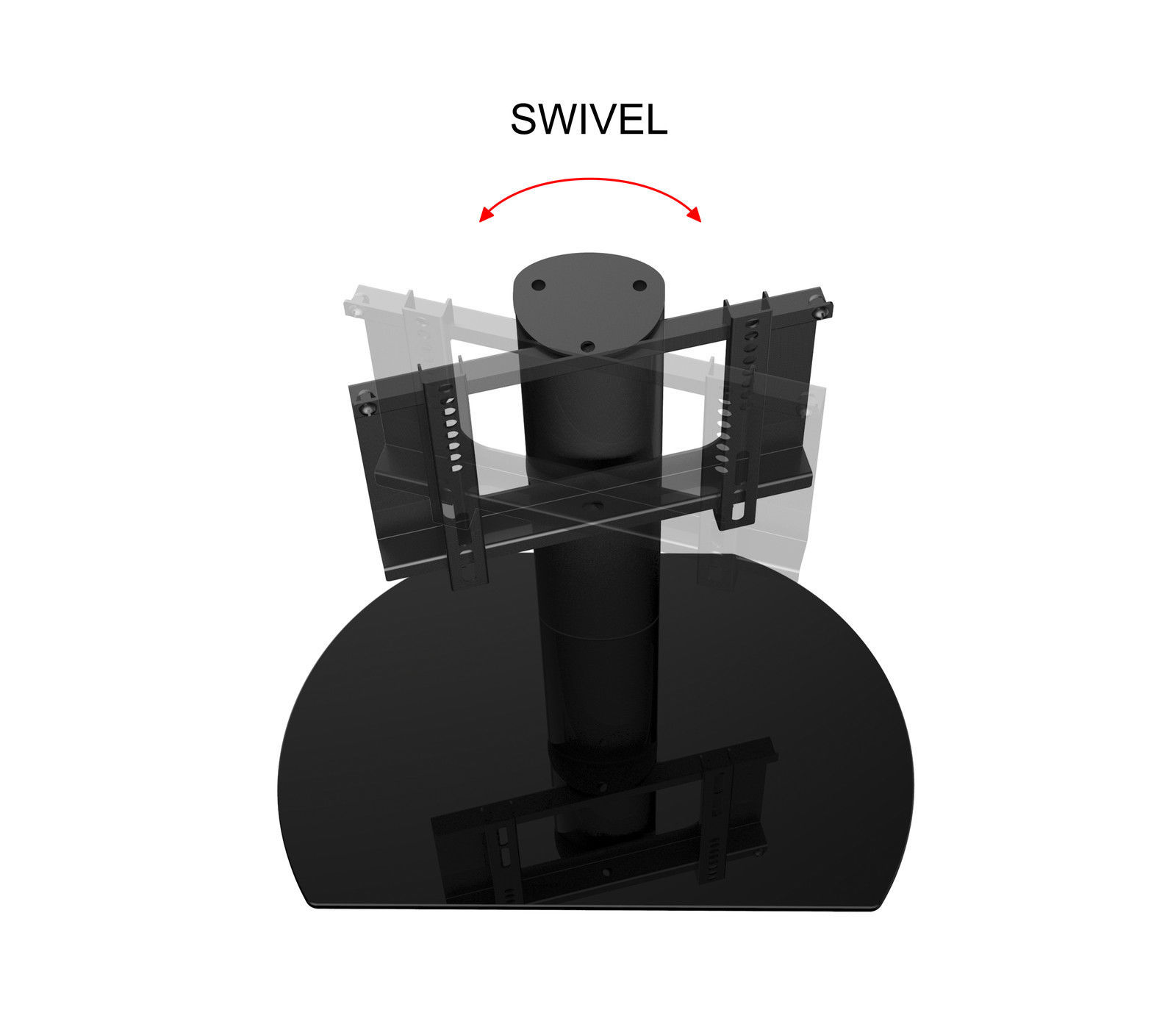 New Replacement Swivel TV Stand / Base for Vizio M320VT