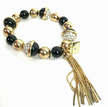 Anne Klein Beaded & Crystal Tassel Stretch Bracelet - $17.41