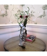 Handcrafted Embossed Ceramic Vase Flower Pot Tabletop Centerpiece Gift f... - $78.95+