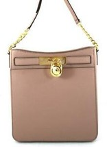 NWT Michael Kors Hamilton Fawn Leather Messenger Shoulder Bag with Booklet - $150.00