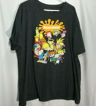 Nickelodeon Rewind Graphic Gray T Shirt Adult Size 2XL - Rug rats, rocko... - $24.74