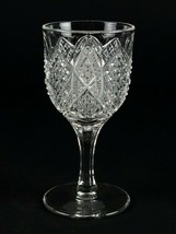 George Duncan Scalloped Six Point Wine Glass, Antique EAPG c1897 No 30, ... - $19.60