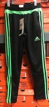 Adidas Youth Tiro 15 Pants Black/Green Size Youth XS (7-8) - $39.60