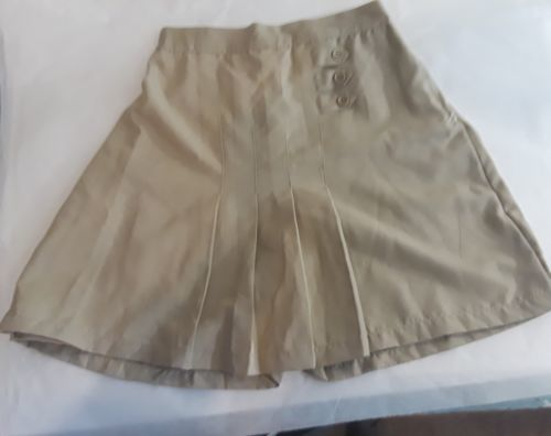 3b6bb5aa7 12. 12. Previous. Universal Girls 20 School Uniform Skirt Skort Pleated  Khaki Tan NWT