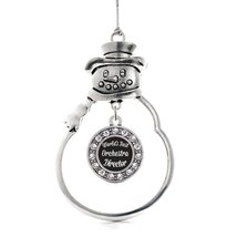 Inspired Silver World's Best Orchestra Director Circle Snowman Holiday Christmas - $14.69