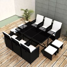 Patio Rattan Wicker Furniture Dining Set for 10 Person Garden Outdoor Cu... - €587,67 EUR