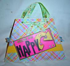 Handmade Color Me Happy  Scrapbook Mini Photo Album New - $16.99