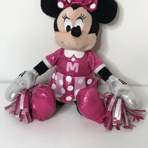"Ty Sparkle Minnie Cheerleader Disney Beanie Plush Stuffed Animal 9"" Tall image 3"